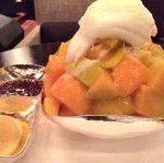 新羅ホテルのマンゴーピンス(かき氷)