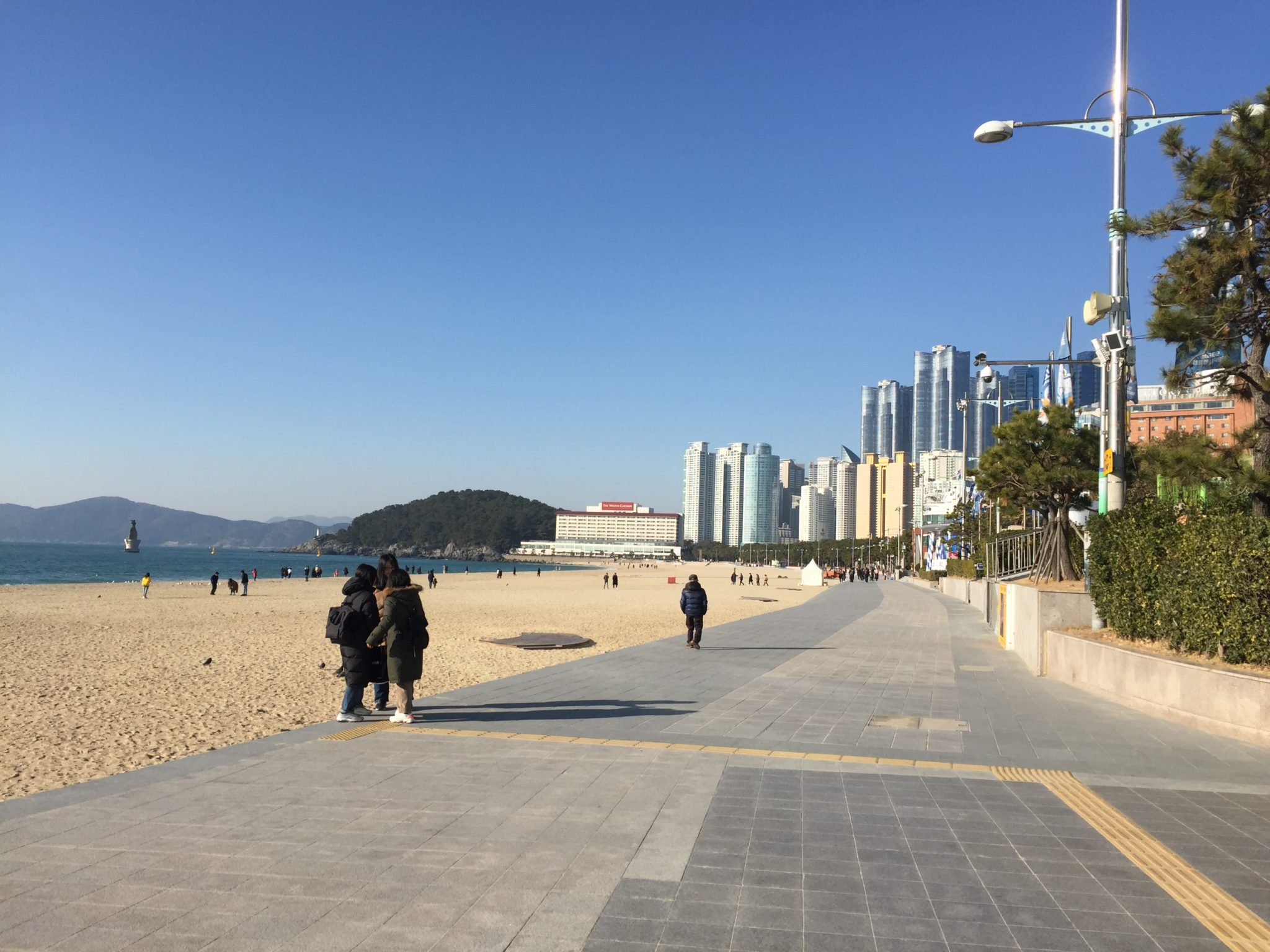 韓国釜山の海雲台(ヘウンデ)ビーチ